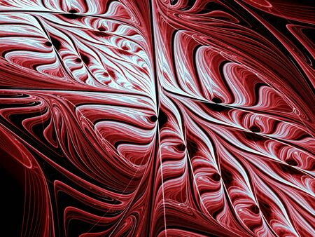 Abstract diagonal embossed pattern - computer-generated image. Fractal geometry - curves, woven in intricate ornament. Stock Photo