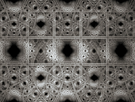 similar: Abstract antique style background computer-generated image. Digital art: similar to the old pattern of swirls and squares. Fractal geometry for web design, prints, covers. Stock Photo