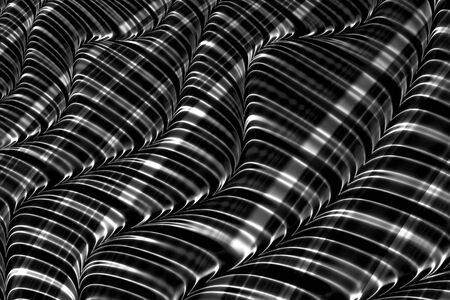 checkered volume: Abstract striped background - computer-generated image. Fractal geometry: chaos convex stripes. For web design, banners, covers.
