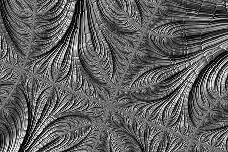 Abstract fractal texture - computer-generated image. Digital art: halftone chaos curves ornament. For web design, covers, posters. Stock Photo
