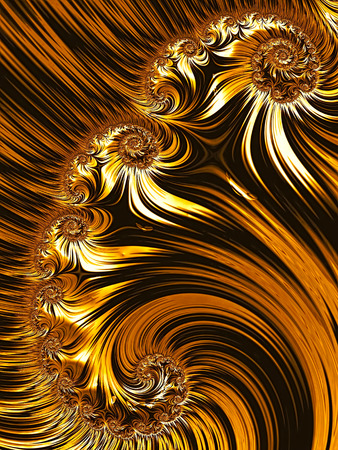 detailed image: Abstract fractal background - computer-generated image. Digital art: detailed spirals and stripes. For cards, puzzles, covers.