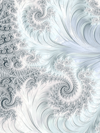 curlicue: Abstract colourful background - computer-generated image. Classic fractal geometry - chaos curls and spirals, creating curlicue. Digital art for covers, puzzles, desktop wallpaper.