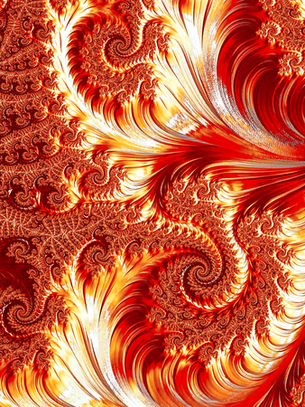 Abstract color background - computer-generated image. Classic fractal geometry - chaos curls and spirals, creating curlicue. Digital art for covers, puzzles, desktop wallpaper.