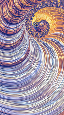 Fractal spiral background - abstract digitally generated image. Digital art: beautiful striped helix. For puzzles, covers, web design.