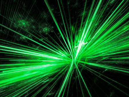 green power: Abstract rays burst - digitally generated image Stock Photo