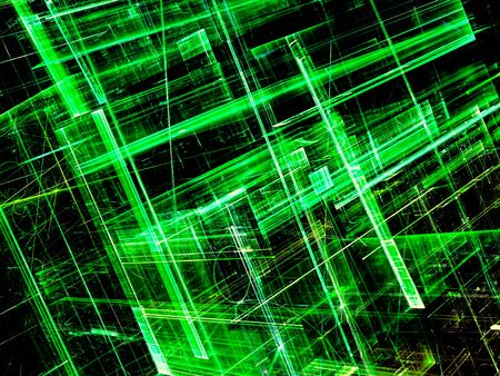 vanish: Glass walls - abstract digitally generated image