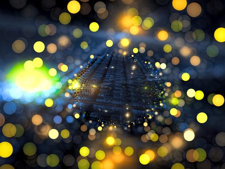 Fractal wazige manier - abstract digitaal gegenereerde afbeelding Stockfoto