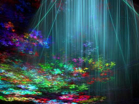 Ongebruikelijk fractal landschap - abstract digitaal geproduceerd beeld