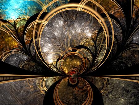 Mystic fraktale Hintergrund - abstraktes digital erzeugte Bild Standard-Bild - 71001232
