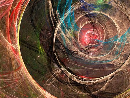 web portal: Chaos curves - abstract digitally generated image Stock Photo