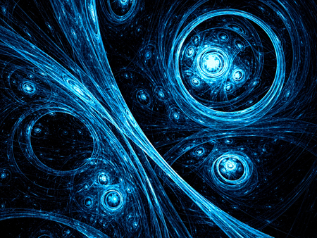 Cosmos background - abstract digitally generated image Stock Photo