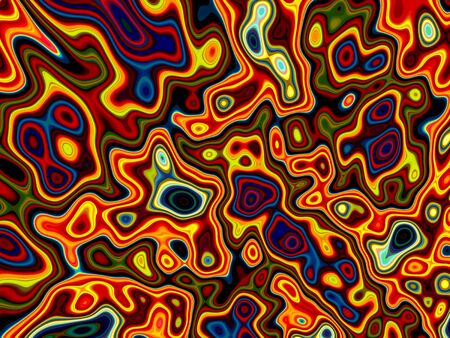 Gnarled fractal background - abstract digitally generated image