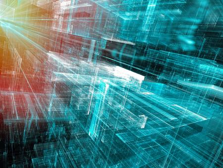 Futur style de style tech - fractal