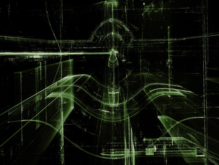 Glass tunnel - abstract digitally generated image Stock Photo