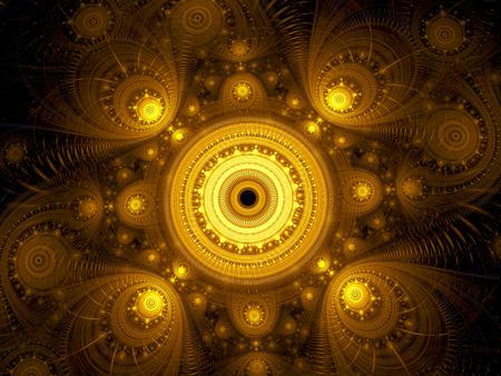 Fractal mandala - abstract esoteric digitally generated image Stock Photo