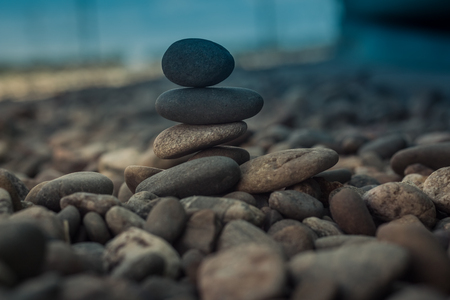 Stones stacked - esoteric symbol of balance and equilibrium