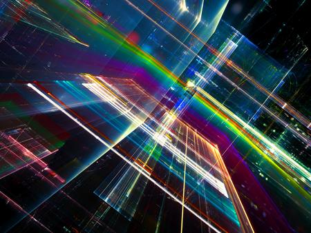 Fondo de tecnología abstracta fractal - ima generada digitalmente