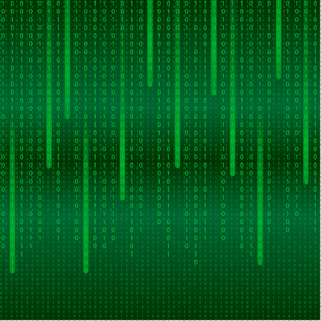 Matrix abstract tech background with binary code