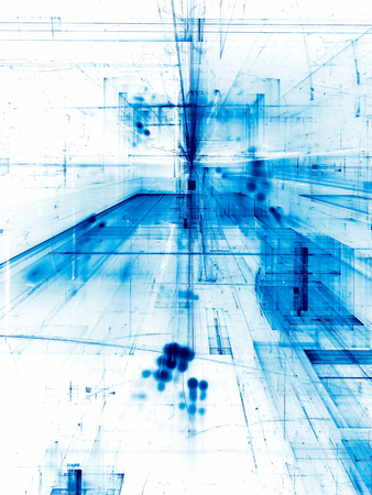 White and blue fractal illustration - pale backdrop for any purposes Stock Photo