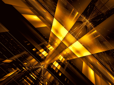 Technology background - futuristic structure with rays burst - digitally generated image Stockfoto - 122280071
