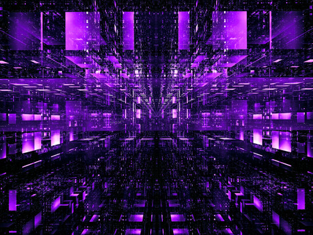 Bright tech background with blocks - abstract digitally generated image Stockfoto - 122280078