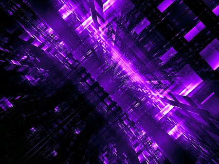 Abstract futuristic portal or data center - digitally generated image