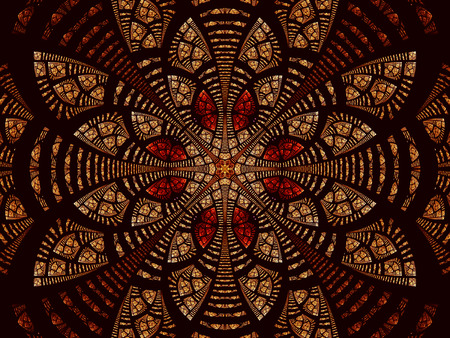 Abstract fractal flower or mandala - digitally generated image