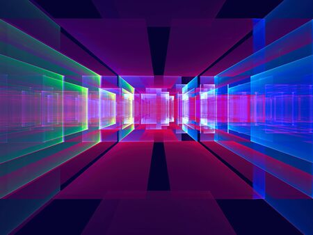 Abstract portal or data center - digitally generated image