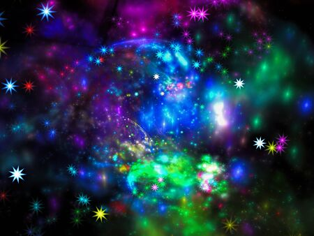 Bright blurred space theme background - abstract digitally generated image Stok Fotoğraf