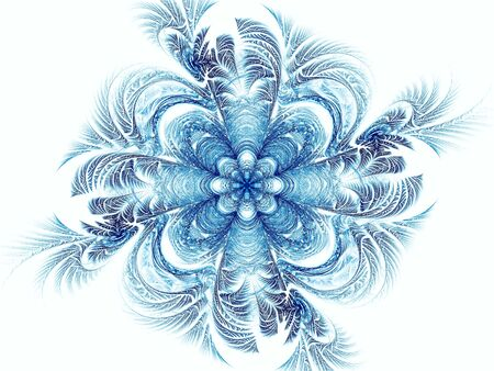 Abstract mandala or flower - digitally generated image