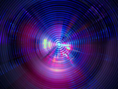 Abstract neon glowing disk - digitally generated image Reklamní fotografie