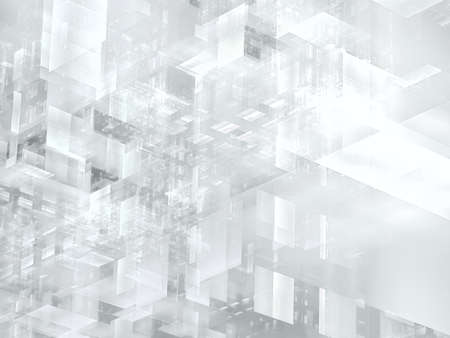 Pale background in white and gray colors - abstract 3d illustration Imagens
