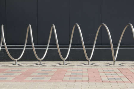 Bicycle parking stand. Spiral bicycle parking rack.