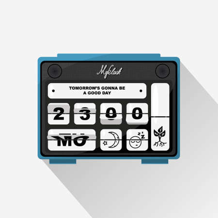 Flip clock template. Old-fashioned clock with a dashboard. Clock design with a countdown.