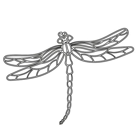 Dragonflies template for laser or milling cut, wood carving, paper cut and printing.