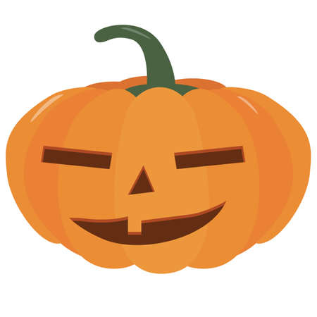 Pumpkin halloween holiday. Halloween pumpkins, funny faces. Isolated vector sign symbol. Autumn holidays.