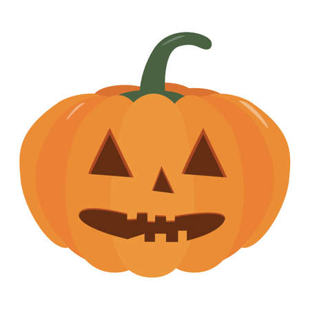 Pumpkin halloween holiday. Halloween pumpkins with funny scared face. Isolated vector sign symbol. Autumn holidays.