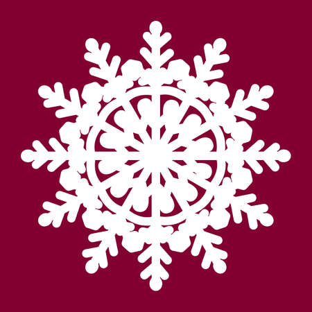 Vector snowflake laser cut template. Cutout decoration for Christmas or New Year. Background for Christmas theme.