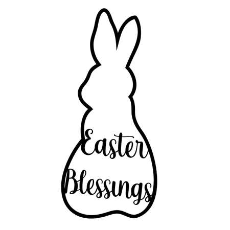 Easter Blessings. laser-cut Easter bunny rabbit. Hare for die cutting. Laser cutting rabbit template easter bunny