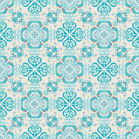 Mediterranean seamless wallpaper print Stock fotó - 134746282