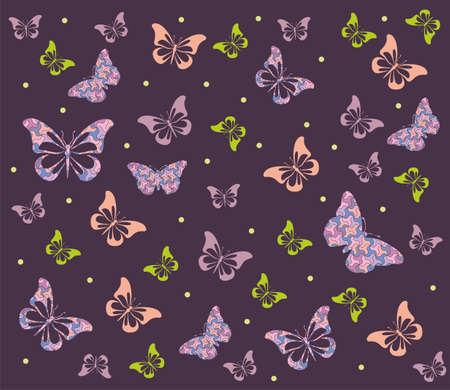 butterfly background: Butterfly seamless background Stock Photo