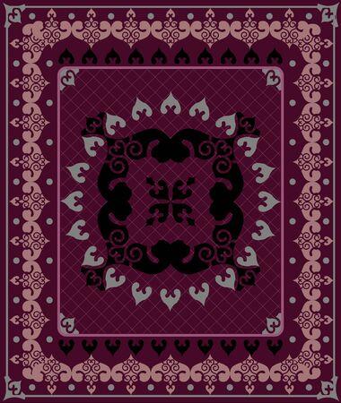floor mat: Vector carpet pattern