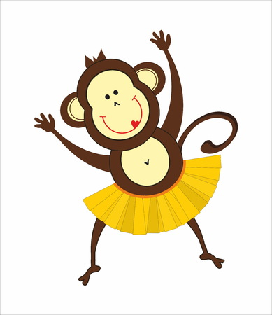 feeling good: dancing monkey Illustration