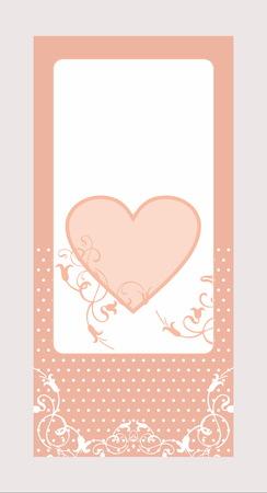 tender: Decorative tender heart set card pattern