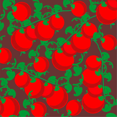 cherry tomato: Cherry tomato vector background