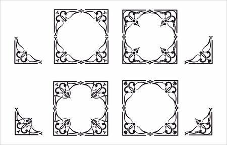 Decorative corner and frame set