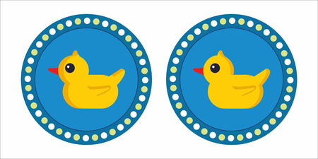 rubber duck: Yellow rubber duck emblem Illustration