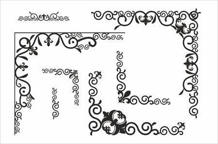 separator: Decorative corner for design