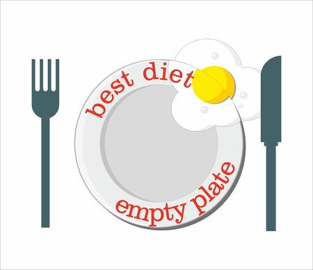 empty: Best diet - empty plate Illustration
