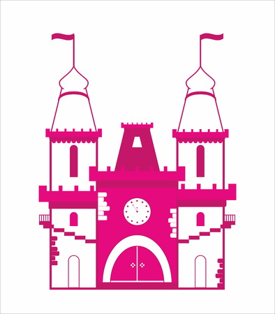 decorative fairytail pink castle Ilustração